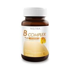 Vistra B Complex Plus Minerals 30tabs วิตามินบี ผสมโสม เหมาะสำหรับผู้ที่ต้องการดูแลสุขภาพ ทำงานหนัก ร่างกายอ่อนเพลีย ลดภาวะความเครียด ช่วยเสริมความจำ