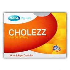 Mega We Care Cholezz (Krill Oil 500 mg.)