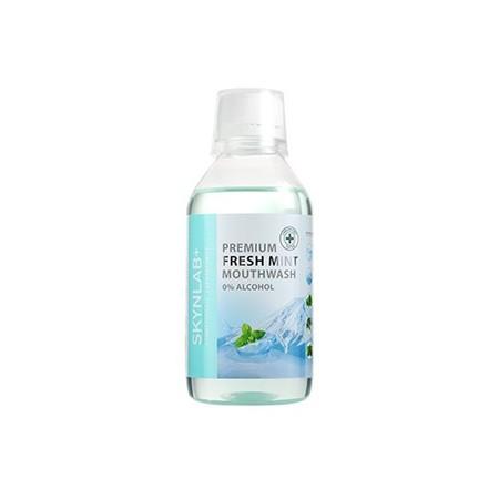 SKYNLAB PREMIUM FRESH MINT MOUTHWASH 250ML. น้ำยาบ้วนปาก Fresh mint mouthwah 0% alcohol