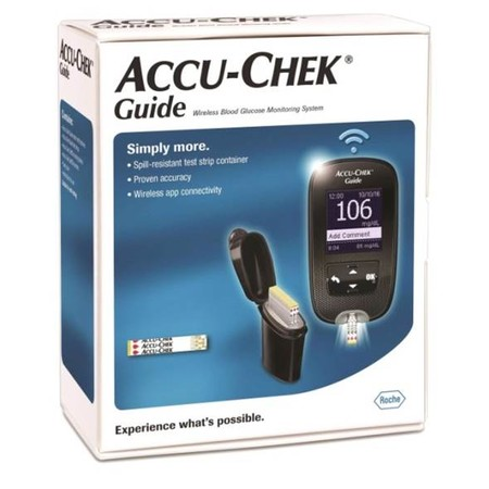 ACCU-CHEK GUIDE SET (No Strip) เครื่องตรวจน้ำตาลในเลือดแบบไร้สายและอุปกรณ์เจาะเลือด