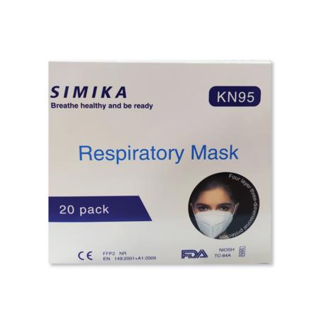 SIMIKA KN95 Respiratory Mask หน้ากากอนามัย SIMIKA ชนิด N95 บรรจุ 20 ชิ้น
