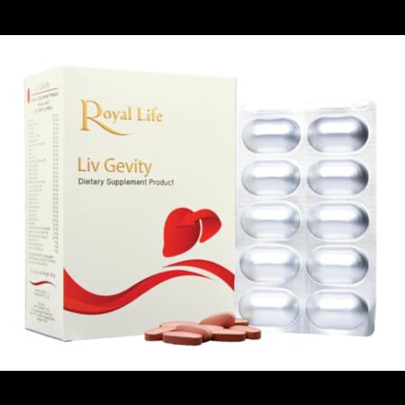 Royal Life Liv Gevity Tablet 30'S วิตามินบำรุงสุขภาพตับและช่วยขับสารพิษและสารอนุมูลอิสระออกจากร่างกาย
