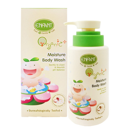 ENFANT ORGANIC PLUS BODY WASH 300 ML (PUMP) ครีมอาบน้ำ สูตรน้ำนมวานิลลา