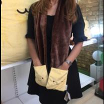 Nicopy ผ้าพันคอพร้อมถุงมือ รูปขนมปัง รุ่น NCP-CI-040002