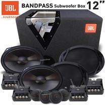 JBL ซับวูฟเฟอร์ ซับ12นิ้ว พร้อมตู้แบนพาส GT-12BP BAND PASS SUBWOOFER ปริมาตรลงตัว เสียงเบสหนักแน่น ลอยไกล + ลำโพง6x9แยกชิ้น JBL-CLUB9600C จำนวน 2คู่