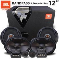 JBL ซับวูฟเฟอร์ ซับ12นิ้ว พร้อมตู้แบนพาส GT-12BP BAND PASS SUBWOOFER ปริมาตรลงตัว เสียงเบสหนักแน่น ลอยไกล + JBL-CLUB6520 + ลำโพงแยกชิ้น6x9 JBL-CLUB9600C