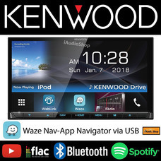 KENWOOD วิทยุติดรถยนต์จอ 2 DIN มีบลูทูธ KENWOOD-DDX7018BT