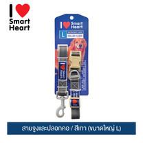 ไอ เลิฟ สมาร์ทฮาร์ท - สายจูงและปลอกคอ/ สีเทา (ขนาดใหญ่ L) / I Love SmartHeart - Leash+Collar / Gray (size L)