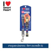 ไอ เลิฟ สมาร์ทฮาร์ท - สายจูงและปลอกคอ/ สีเทา (ขนาดเล็ก S) / I Love SmartHeart - Leash+Collar / Gray (size S)