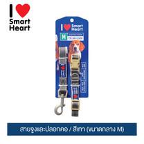 ไอ เลิฟ สมาร์ทฮาร์ท - สายจูงและปลอกคอ/ สีเทา (ขนาดกลาง M) / I Love SmartHeart - Leash+Collar / Gray (size M)