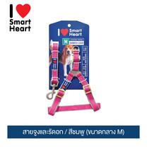 ไอ เลิฟ สมาร์ทฮาร์ท - สายจูงและรัดอก /สีชมพู (ขนาดกลาง M) / I Love SmartHeart - Leash+Harness / Pink (size M)