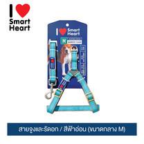 ไอ เลิฟ สมาร์ทฮาร์ท - สายจูงและรัดอก/ สีฟ้าอ่อน (ขนาดกลาง M) / / I Love SmartHeart - Leash+Harness / Light Blue (size M)