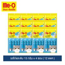 มีโอ ครีมมี่ ทรีต รสไก่และตับ 15 ก. x 4 ซอง (12 แพ็ก) / Me-O Cat Creamy Treats Chicken & Liver Flavor 15g. X 4 sachets (12 packs)