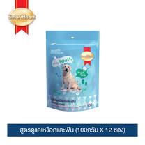 สมาร์ทฮาร์ททรีต ขนมสุนัข สูตรดูแลเหงือกและฟัน (100กรัม X 12 ซอง) / SmartHeart Dog Treat - Dental Care  (100g. X 12 packs)