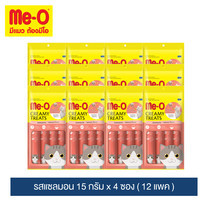 มีโอ ครีมมี่ ทรีต รสแซลมอน 15 ก. x 4 ซอง (12 แพ็ก) / Me-O Cat Creamy Treats Salmon  Flavor 15g. X 4 sachets (12 packs)