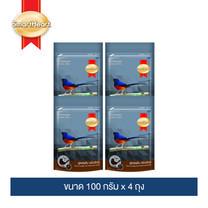 สมาร์ทฮาร์ท อาหารนกกางเขนดง 100 กรัม (แพ็ค 4 ถุง) / SmartHeart Shama Bird Fierce Energy & Enhanced Voice 100g (Pack 4)