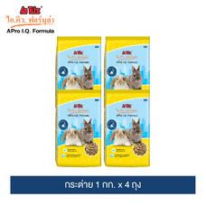 อาหารกระต่าย เอโปร ไอคิว ฟอร์มูล่า 1 กก. x 4 ถุง / A Pro I.Q. Formula Rabbit Feed 1 kg. x 4 Pack