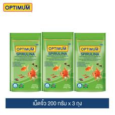 ออพติมั่ม สไปรูไลน่า (เม็ดจิ๋ว) 200 กรัม (แพ็ค3) / Optimum Spirulina (Kibble Mini) 200g. (3 Packs)