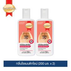 สมาร์ทฮาร์ท แชมพูกำจัดเห็บสำหรับสุนัข กลิ่นโรแมนติกไชน์ ขนาด 200 มล. แพ็ค 2 ขวด/SmartHeart Tick Dog Shampoo Romantic Shine Scent 200 ML. Pack 2