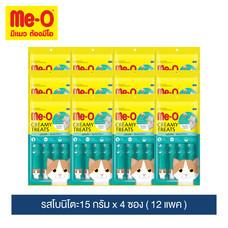 มีโอ ครีมมี่ ทรีต รสโบนิโตะ 15 ก. x 4 ซอง (12 แพ็ก) /  Me-O Cat Creamy Treats Bonito Flavor 15g. X 4 sachets (12 packs)