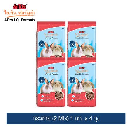 อาหารกระต่าย เอโปร ไอคิว ฟอร์มูล่า (2 Mix) 1กก. x 4 ถุง / A Pro I.Q. Formula Rabbit Feed 2 mix 1 kg. x 4 Pack
