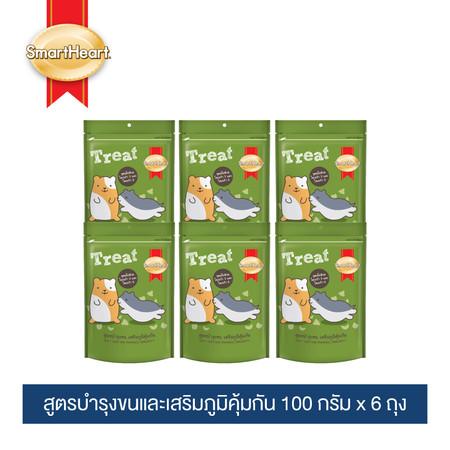 สมาร์ทฮาร์ท ทรีต หนูแฮมสเตอร์ (บำรุงขน-เสริมภูมิคุ้มกัน) 100กรัม (แพ็ค 6 ถุง) / SmartHeart Hamster Treat 100g (Pack 6)