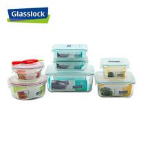 Glasslock ชุดกล่องอาหารแก้ว 7 ใบ พร้อมอุปกรณ์ถอดยางซิลิโคน รุ่น Combo Set-H