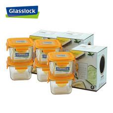 Glasslock ชุดกล่องอาหารแก้ว 6 ใบ ทรงจัตุรัสเล็ก รุ่น GL-991-3S
