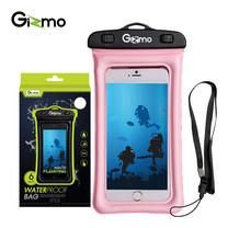 Gizmo ซองกันน้ำมือถือ WaterProof Bag รุ่น GW002 สี Pink