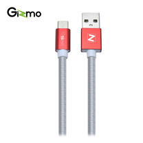 Gizmo สายชาร์จAndroid สายชาร์จสปริง Micro USB ยาว 1 เมตร รุ่น GU-002 - Red