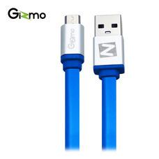 Gizmo Cable Micro สายชาร์จAndroid สายแบน 1 เมตร รุ่น GU-006-3 สี Blue