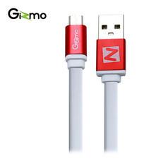 Gizmo Cable Micro สายชาร์จAndroid สายแบน 2 เมตร รุ่น GU-006-4 สี White