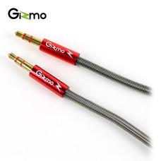 Gizmo สาย AUX 3.5 มม. สายสัญญาณเสียงสเตอริโอ แจ็คต่อฟังเพลง สายต่อฟังเพลง สายสปริง รุ่น GU-003 สีแดง