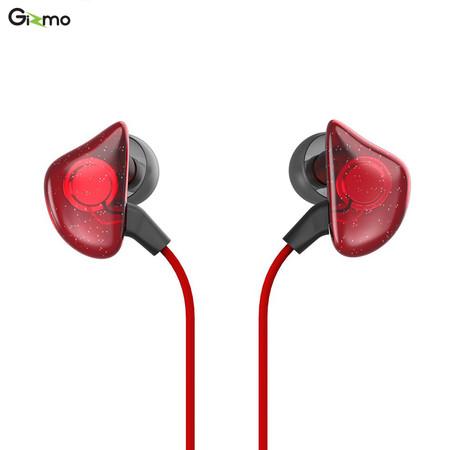 Gizmo หูฟังสมอลทอร์ค รุ่น Red Stone in-ear headphones สีแดง GS-004 ประกัน 1 ปี