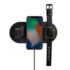 Uniq แท่นชาร์จไร้สาย 3 In 1 รุ่น Aereo Fast Wireless (US) - Charcoal