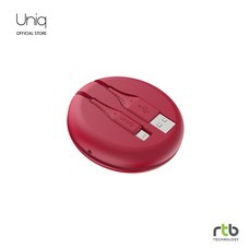Uniq สายชาร์จ Halo USB-A To Lightning Cable MFi 1.2M - Carmine Red