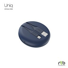 Uniq สายชาร์จ Halo USB-A To Lightning Cable MFi 1.2M - Marine Blue