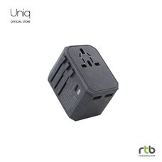 Uniq Wall Charger Voyage PD World Adapter PD33 - Charcoal Grey