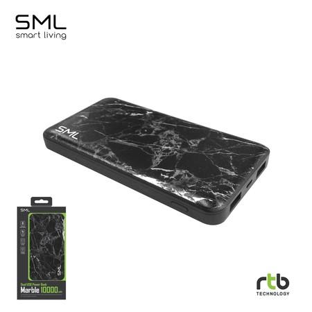 SML แบตสำรอง Power Bank Dual USB 10000 mAh - Black