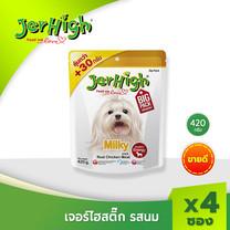 JerHigh เจอร์ไฮ มิลค์กี้ สติ๊ก 420 ก. บรรจุ 4 ซอง