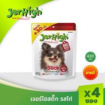 JerHigh เจอร์ไฮ สติ๊กไก่ 420 ก. บรรจุ 4 ซอง