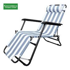 Stainless เก้าอี้พักผ่อนปรับเอนได้สลับลาย - สีขาวเทา