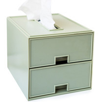 UDEE กล่องลิ้นชัก ABS 2 ชั้น- สีเขียวพลาสเทล