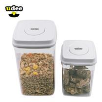 UDEE ชุดกล่องถนอมอาหารปุ่มกดซีลอากาศ 2 in 1 (0.9 L/2.0 L)