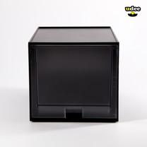 UDEE กล่องลิ้นชักรุ่น 1 ชั้น - สีดำ (ลิ้นชักใส)