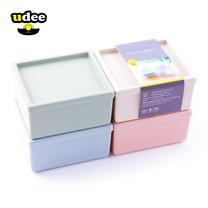 UDEE กล่องพลาสติกอเนกประสงค์ 4 ชิ้น 4 สี รุ่น P4 - สีพาสเทล