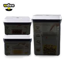 UDEE เซต 3 ชิ้น ชุดกล่องถนอมอาหารปุ่มกดซีลอากาศ 3 ชิ้น รุ่นกันยูวี
