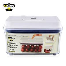 UDEE กล่องถนอมอาหารปุ่มกดซีลอากาศ 0.7 ลิตร แบบใส