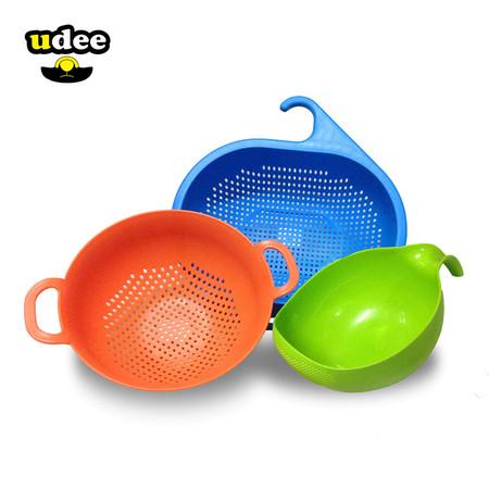 UDEE ชุดตะกร้ากระชอน 3 ชิ้น - สีสดใส2 (B)