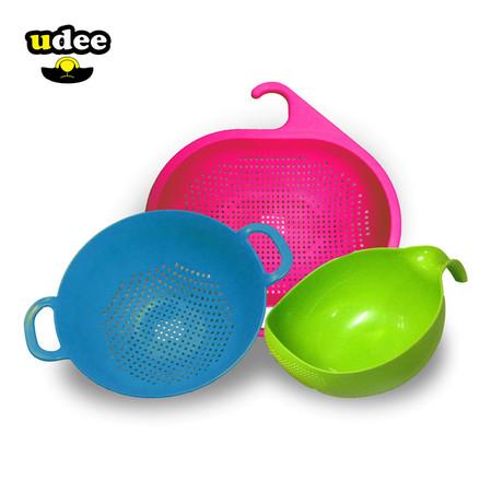 UDEE ชุดตะกร้ากระชอน 3 ชิ้น - สีสดใส1 (P)
